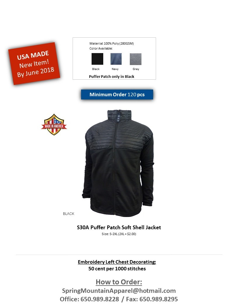S30A-Thermo Puffer Patch Soft Shell Jacket