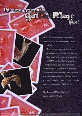 Gaff : Homemade Gimmicks by Doorway Magic (  4 DVD DVD SET ) ( Upload Vol. 1 -2 - 3 - 4 )