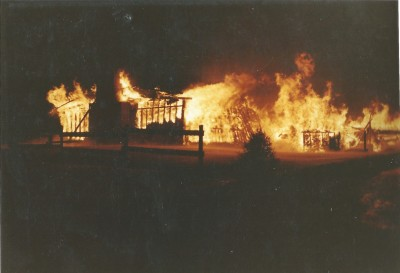 Fire destroys the lodge