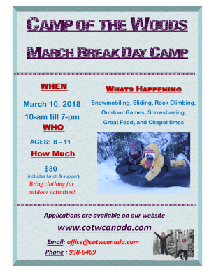Coming up...March Break Day Camp!