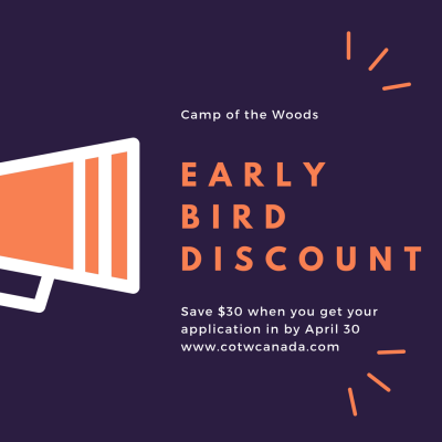 Early Bird Discount--Don't miss out!