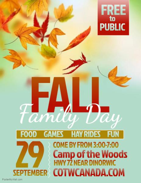 Fall Family Day is September 29!