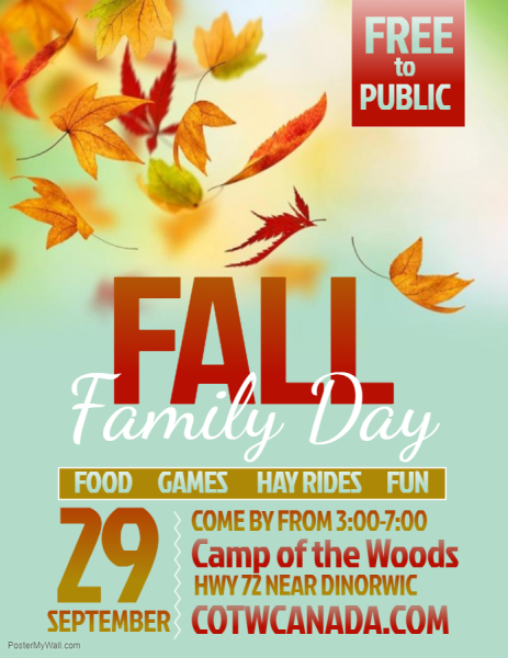 Fall Family Day is September 29!