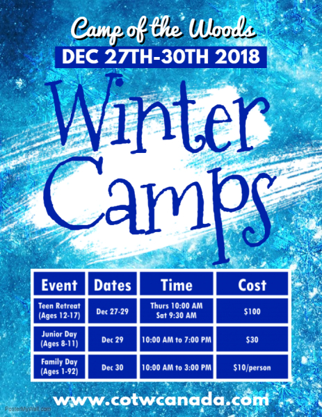 Winter Camps are coming soon!