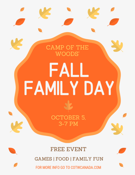 Fall Family Day is October 5