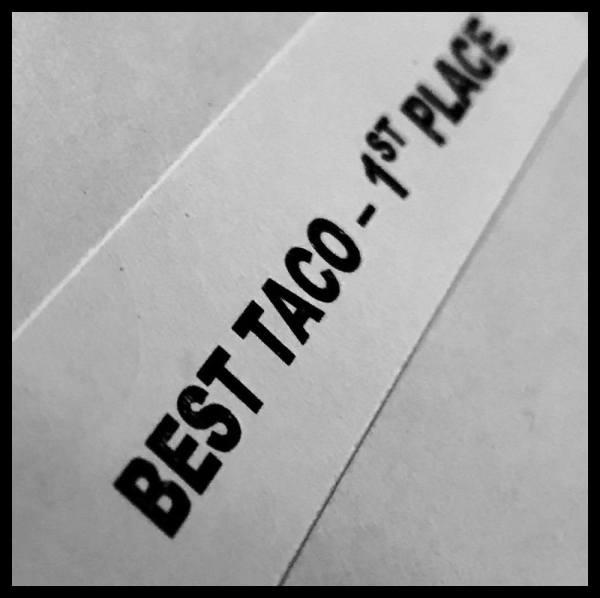 BEST TACO AWARD