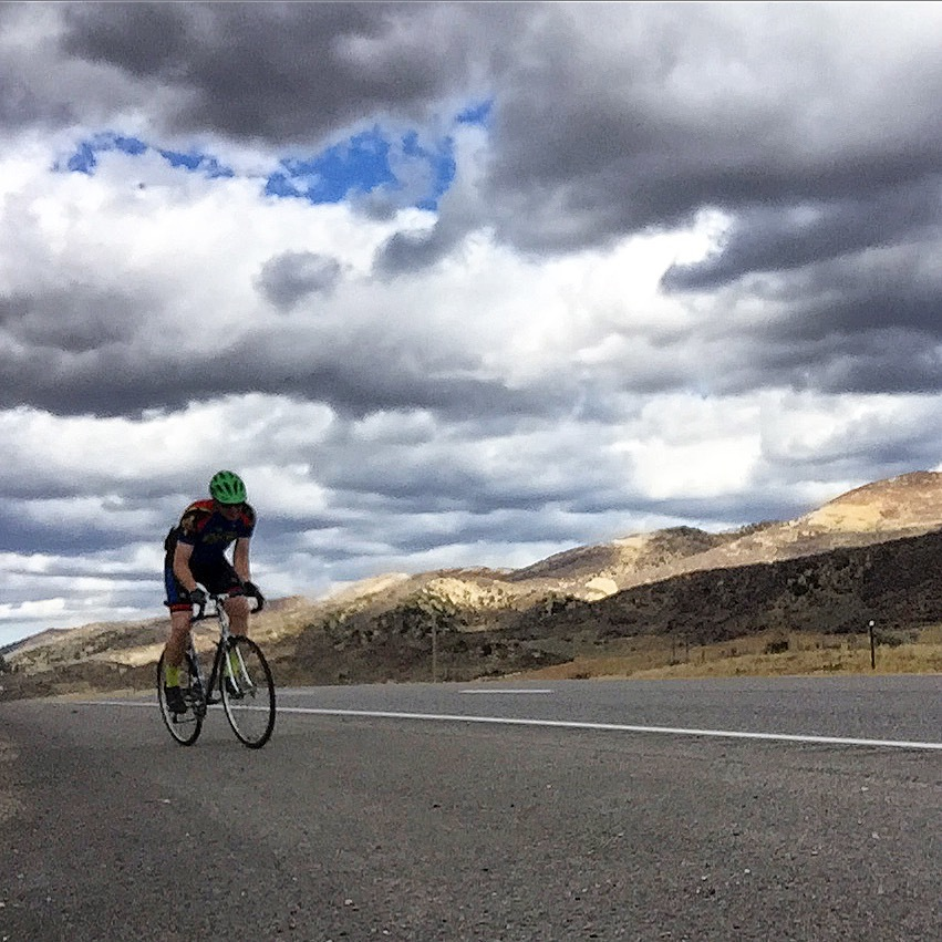 Riding bikes is one of my main forms of release and exercise. Colorado County Road 13.