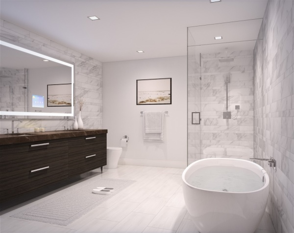 Master Bathroom in the 'Air' color scheme