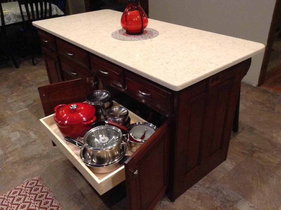 Cherry kitchen pull out drawer