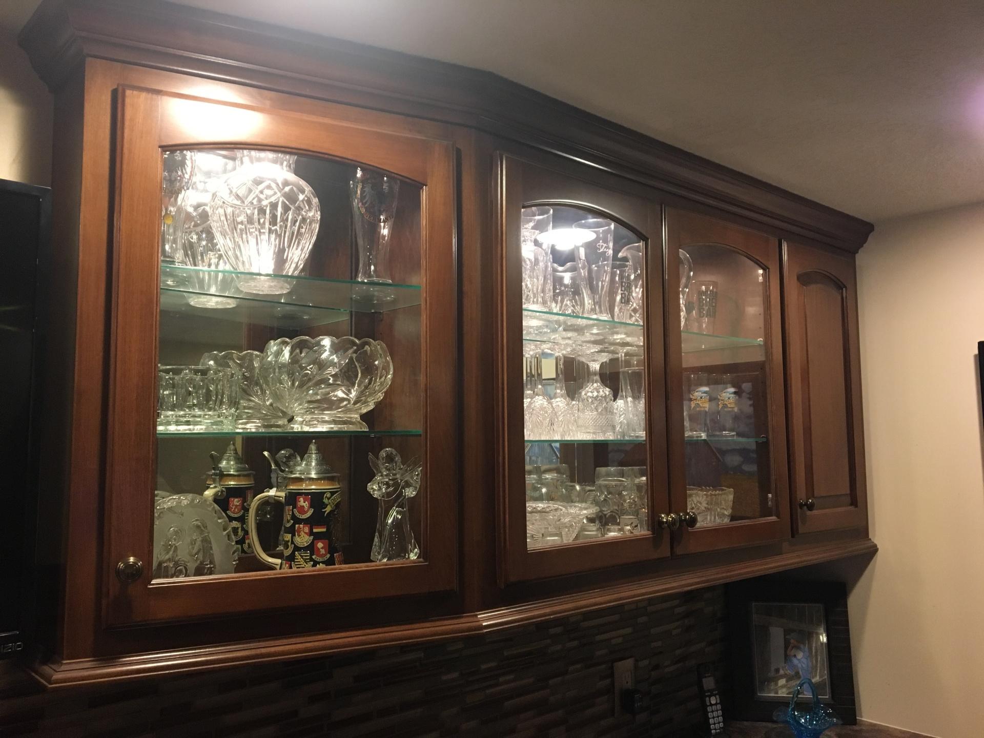 Curio Cabinet for Basement Bar