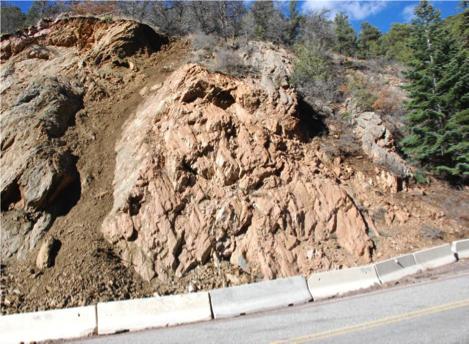 Santa Fe Shattercone Outcrop