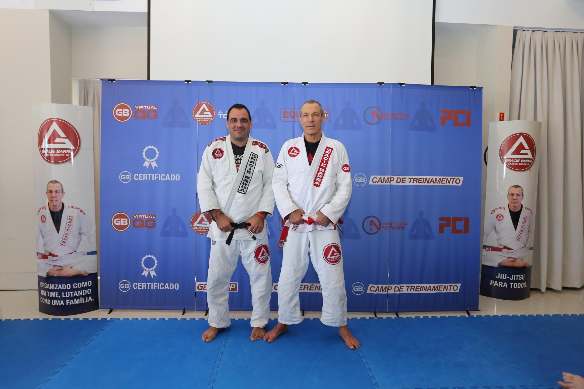 Prof Murillo Valporto e o Mestre Carlos Gracie Jr.