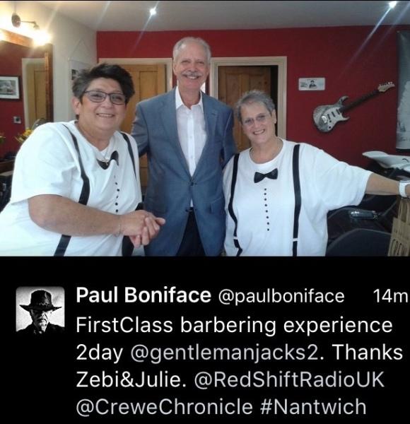Paul Boniface Experiences Our Hot Towel Shave