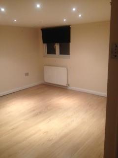 Underlay and laminate flooring job