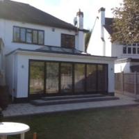 ground floor extension bi-fold sliding door windows