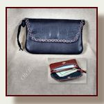 Small soft wallet for front pants pocket