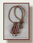 Hand stitched deerskin neck pouch on hand braided cord