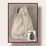 All deerskin hand stitched drawstring pouches
