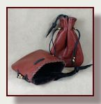 Fully lined lint free leather pouch