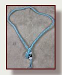 Comfortable deerskin necklace with glass focal beads