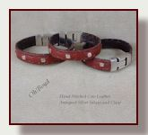 Leather slim wrist bands with quality clasps