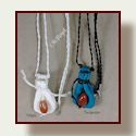 Go to necklace pouches with agate focal beads.