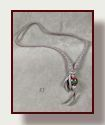 Go to lariat deerskin necklaces with glass focal beads.