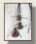 Tiny Drawstring Necklace Pouches - Three Sizes
