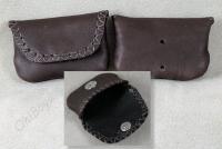 Magnet closure pouch holds set of banjo picks handy.