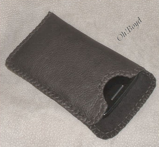 Furnish cell phone dimensions, and I will make a custom hand stitched leather sleeve for you.