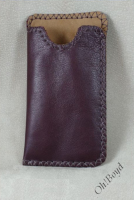 Cell phone sleeve - wine color.