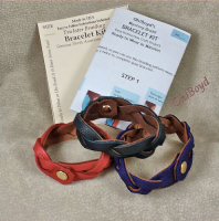 Take the bracelet apart and follow the included instruction sheet to braid it up again.