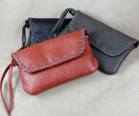 OhBoyd's stitched by hand soft wallets come in several leather colors.