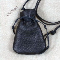 Largest size drawstring neck pouch is 2-1/4 x 3-inches.