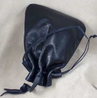Use the tough leather tying thong (hanger) to display bag anywhere, even on you.