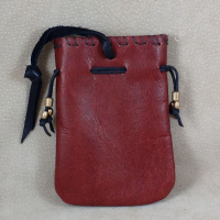 Open flat tobacco pouch, back.