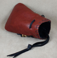 Use tying thong on tobacco pouch to hang it anywhere.