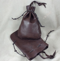 Machine sewn tough leather pouches - our most affordable.