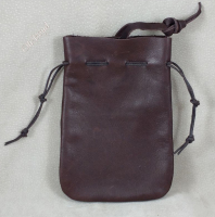 Leather pouches, front.