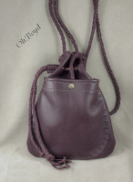 Drawstring pouch purse.