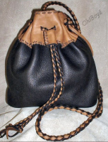 Flat bottom divided organizer purse.
