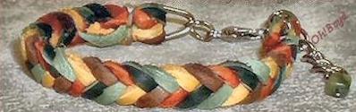 Sample of OhBoyds woven bracelets.