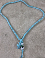 Round braid necklace made of four strands of strong deerskin.