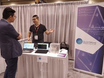 Yin Li, CEO of QuantWave Pitching and Demonstrating at Discovery Conference in Toronto