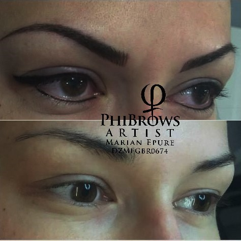 Fusion brows with eyeliner