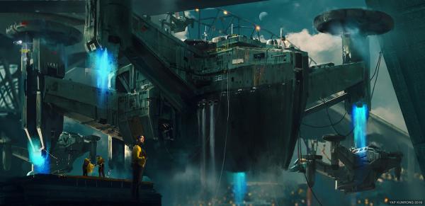 Trimaran Ship