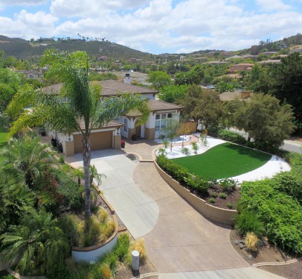 aerial shot of home in Vista, CA