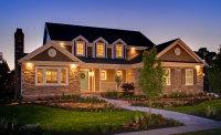 twilight photo of house