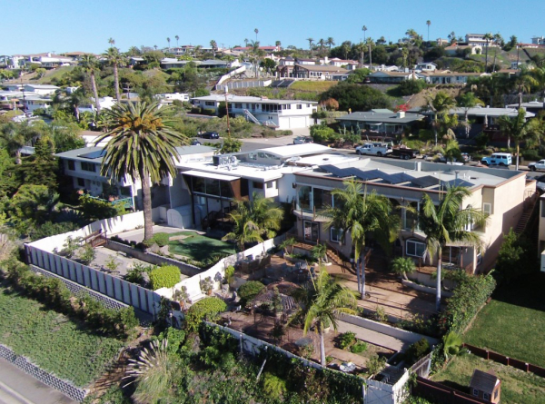 drone shot of house on McGaw Street in San Diego