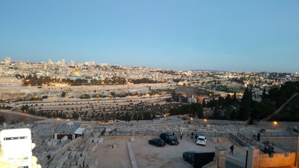 Jerusalem view from Mount Olive